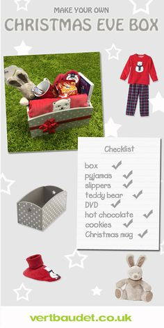 Create your very own Christmas Eve box! a perfect way to start Christmas early.