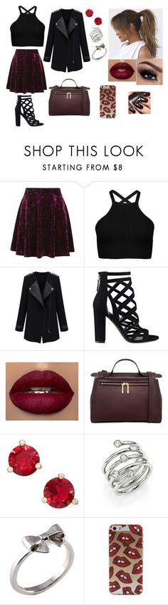 """""""Untitled #87"""" by rugiledamaseviciute on Polyvore featuring beauty, Topshop, GUESS, Champion, Karen Walker, Kate Spade, Michael Kors and Joy Everley"""