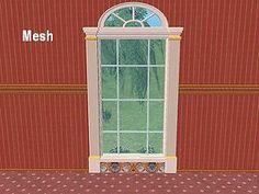 Mod The Sims - *NEW* 2 Story Window Mesh - Versailles Window II