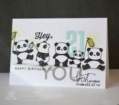 Lostinpaper - Mam Elephant Graffiti Pandamonium 21st card