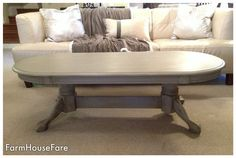 French Provincial Coffee Table Chalk Paint French by FarmHouseFare, $328.00
