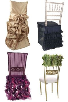 Love that this company is making formalwear for chairs too!  www.wildflowerlinens.com