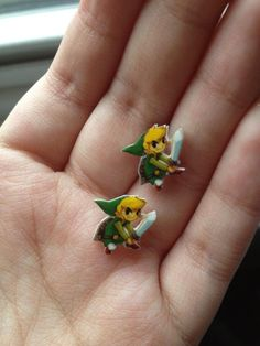 Toon Link Earrings by rocketshipsandradios on Etsy, $5.00
