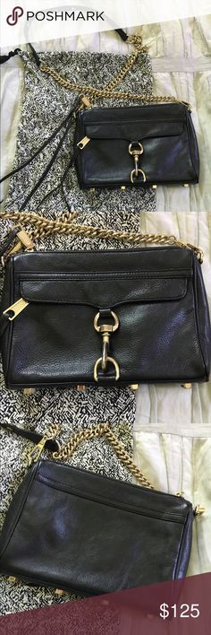 Black Rebecca Minkoff Mini Mac Crossbody In great condition! Has been used only a few times. Comes with dust bag. Rebecca Minkoff Bags Crossbody Bags