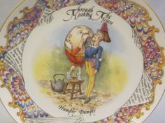 Lewis Carrol Through Looking Glass Collector Plate Humpty Dumpty England Aynsley