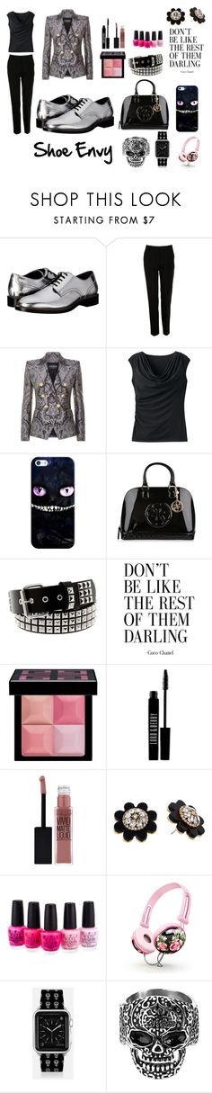 """""""Silver Oxford"""" by rivers-jacqui on Polyvore featuring Dsquared2, Dolce&Gabbana, Balmain, TravelSmith, Casetify, GUESS, Givenchy, Lord & Berry, Maybelline and Kate Spade"""