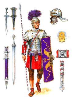 Воин Преторианской гвардии Рима, II век н.э.