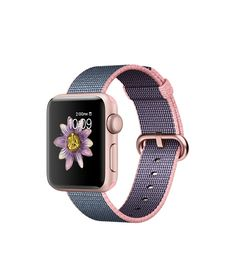 Apple Watch (Series 2) - Rose Gold Aluminum Case with Light Pink/Midnight Blue Woven Nylon (38mm)