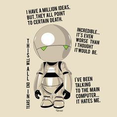 marvin the paranoid android quotes | Marvin - The Hitchhiker's Guide to the Galaxy | FILM SCREENPLAY ...