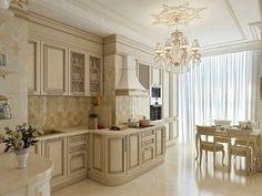 дизайн кухни фото Fancy Kitchens, Elegant Kitchens, Luxury Kitchens, Beautiful Kitchens, Home Kitchens, Kitchen Dinning Room, Kitchen Sets, Home Decor Kitchen, Interior Design Kitchen