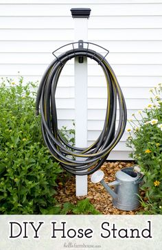 Learn how to make your own DIY hose stand