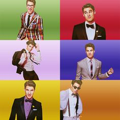 Darren Criss.  He makes me so happy. If I ever had the chance to meet him I'm 99.99% sure I'd make a fool of myself.