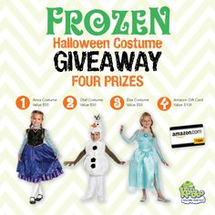 Would you like to build a snowman and enter to win a Frozen themed costume, then please enter the Frozen Halloween Costume Giveaway with Kandoo! #FrozenHalloween