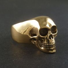 Hey, I found this really awesome Etsy listing at https://www.etsy.com/listing/117730044/statement-ring-skull-ring-bronze-human