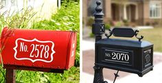 Set of 2 Vinyl Mailbox  Decals - 4 Amazing Styles To Choose From!