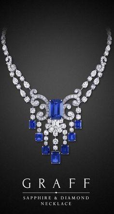 Graff Sapphire and Diamond Necklace (=)                              …