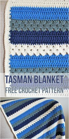 This simple blanket pattern is suitable for all abilities. It can be customized to suit any size you require. The pattern comes with files for both UK terminology and US terminology. Link for free pattern is below! Skill Level: Easy, Craft: Crochet, Designed by: Periwinkle Crochet, Tasman Blanket Crochet Pattern – Visit pattern site and download from here