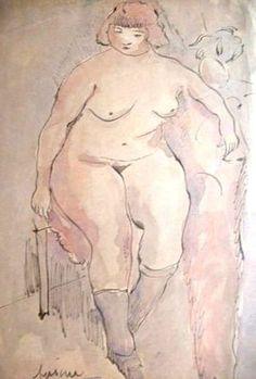 Pascin, Jules - Ecole de Paris - Watercolour - Nude