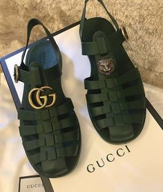 Newly released Gucci Jelly Gladiator sandal for men! Cute Sandals, Cute Shoes, Me Too Shoes, Shoes Sandals, Shoes Sneakers, Gucci Sneakers, Sneakers Women, Sneaker Heels, White Sneakers