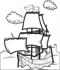 mayflower coloring pages 02 Happy Mayflower Day Pinterest