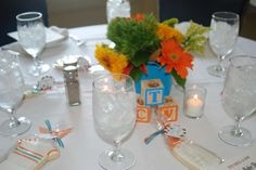 Orange and Turquoise Baby Shower Party Ideas   Photo 2 of 20   Catch My Party