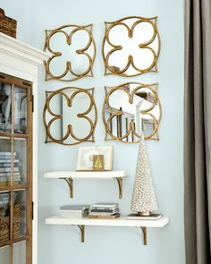 Shelving is a great way to use your wall space for storage and function