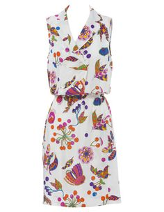 SONIA BY SONIA RYKIEL Art Deco print dress #MyerSS13 #floral