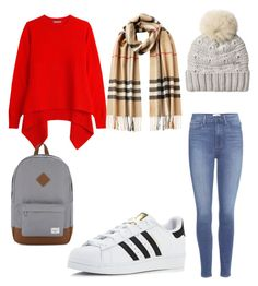 """Untitled #342"" by katiestjean on Polyvore featuring Alexander McQueen, Burberry, Woolrich, Paige Denim, adidas and Herschel Supply Co."