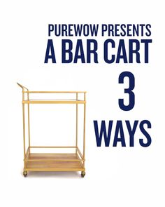 Even if cocktails aren't really your thing, that doesn't mean you can't stock a super-chic bar cart. Watch for three different ways to style it.