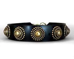 Collier Leeds Oscar leather dog collar
