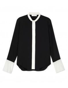 Chloé Black & White Blouse - We're absolutely crazy about Chloé. http://shop.harpersbazaar.com/in-the-magazine/new-now