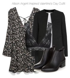 """""""Allison Argent Inspired Valentine's Day Outfit"""" by nathj ❤ liked on Polyvore featuring MANGO, Joseph, H&M, allisonargent, tw and valentinesday"""