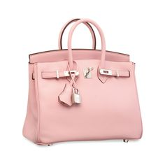 56338e916efa A ROSE SAKURA SWIFT LEATHER BIRKIN 25 WITH PALLADIUM HARDWARE