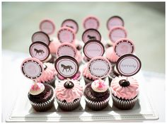 Project Nursery - Pink and Brown Pony Themed Cupcakes