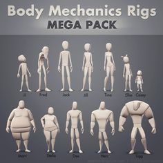 Here they are, all 12 of them! These Maya rigs are perfect for honing in on body mechanics and acting as you develop your character animation skills. http://vimeo.com/joedanimation/bodymech. They will work with Maya 2014 and up, and come with an AnimSchool Picker that can be mapped to any of the rigs by changing the namespace within the picker ui. Happy Animating! Joe Daniels. http://artofjoe.blogspot.com. http://gumroad.com/joedanimation