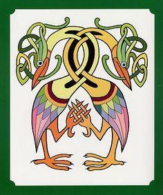 celtic animals - Google Search Celtic Animals, Viking Pattern, Vikings, Book Of Kells, Celtic Art, Art Sites, Medieval Art, Celtic Designs, Stained Glass Art