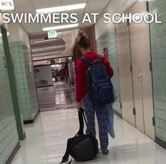 Basically your uniform when you go to class after practice: Literally Just 28 Pictures That All Swimmers Will Find Hilarious Swimming Funny, I Love Swimming, Swimming Diving, Swimming Tips, Funny Swimming Quotes, Swimming Practice, Olympic Swimming, Swimming Classes, Sea Diving