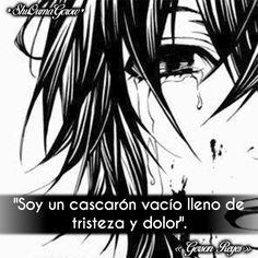 Soy un cascaron #ShuOumaGcrow #Anime #Frases_anime #frases