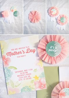 Mothers Day Tea Party : Free printable invitation