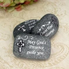 Religious Themed Rock Favors by Beau-coup