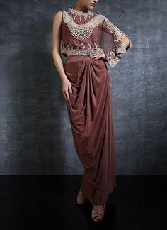 3794ce827d4 Pragya Jaiswal in Drape Skirt and Crop Top