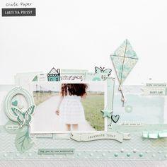 A Delightful Monochromatic Layout (Crate Paper) Crate Paper, Scrapbook Page Layouts, Scrapbook Pages, Scrapbooking Ideas, Diy Album Photo, Monochrome, Bridal Shower Scrapbook, Birthday Scrapbook, Challenge