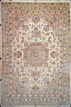 Floral Tabriz Silk Persian Rug | Exclusive collection of rugs and tableau rugs - Treasure Gallery Floral Tabriz Silk Persian Rug You pay: $17,900.00 Retail Price: $38,000.00 You Save: 53% ($20,100.00) Item#: 2320 Category: Large(9x12-10x13) Persian Rugs Design: Khatibi Size: 250 x 350 (cm) 8' 2 x 11' 5 (ft) Origin: Persian, Tabriz Foundation: Silk Material: Wool & Silk Weave: 100% Hand Woven Age: Brand New KPSI: 550