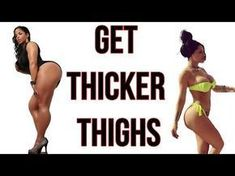 How to Get Thicker Thighs Tips & 3 DIY Workouts) A toned and strong body has become a trend among women, in many cases preferred over super-slim and skinny. Here are the best ways to get thicker thighs. Bigger Thigh Workout, Thick Thighs Workout, Hip Workout, Body Workouts, Thunder Thigh Workout, Daily Workouts, Waist Workout, How To Widen Hips, How To Get Thick