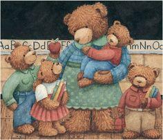A beary beary sweet Bear Family! Teddy Bear Hug, Tatty Teddy, Cute Teddy Bears, Teddy Pictures, Bear Pictures, Teddy Beer, C Is For Cat, Bunny Drawing, Bear Images