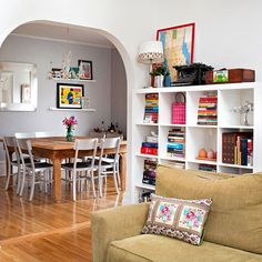 "A very realistic ""dream house"" image for me - Boost your blank wall's style and storage capacity with a modular shelving unit: http://www.bhg.com/home-improvement/remodeling/budget-remodels/25-home-improvement-ideas-under--150/?socsrc=bhgpin102714gomodular&page=10"