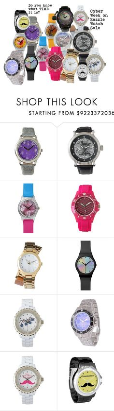 """""""Cyber Week on Zazzle Watch Sale"""" by sandyspider ❤ liked on Polyvore featuring Canterbury, watch, watches, wristwatch, zazzle and CyberWeek"""