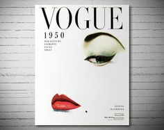 Vogue Cover January 1950 - Vogue Cover Poster - Poster Paper, Sticker or Canvas Print
