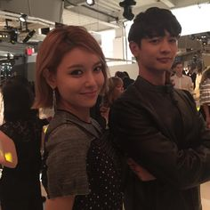 """Happy 75 anniversary@coach 민호수영 힙해진 코치와 너무 잘어울린다아!!!!#CoachSpring2016#choisooyoung#choiminho#coach"""