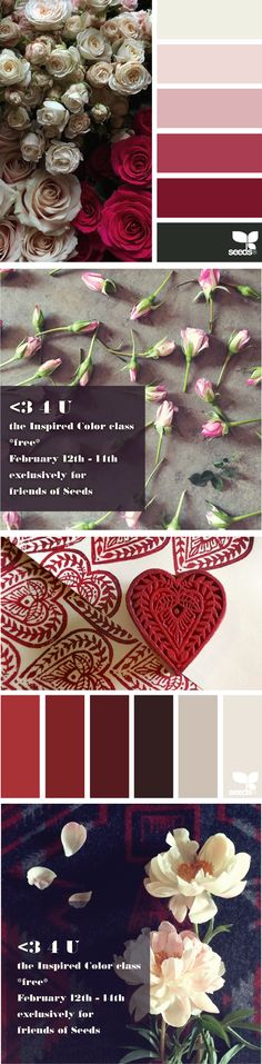 Happy Valentine's Day! ...the Inspired Color class is FREE 4 friends of Seeds today @ http://skl.sh/DesignSeedsValentines